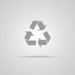 Vector recycle sign or icon