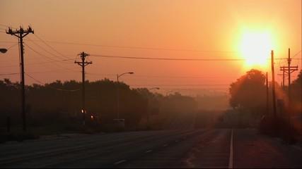 朝焼けの道路2