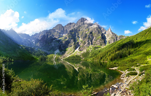 Eye of the Sea lake in Tatra mountains, Poland - 67916838