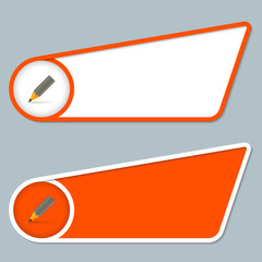 two orange boxes for any text with pencil