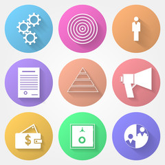 Circle icons for outsource