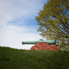 Kanone auf Festung in Oslo