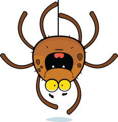 Cartoon Spider Climbing