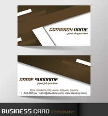 Modern business card template or visiting card set