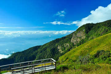 Viewpoint at Doi Inthanon National Park Chiangmai province Thail