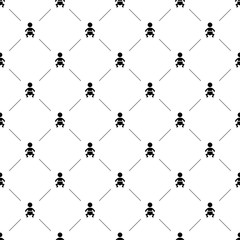 Vector seamless pattern, baby
