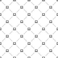 Vector seamless pattern, laptop