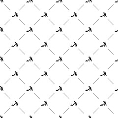 Vector seamless pattern, construction works