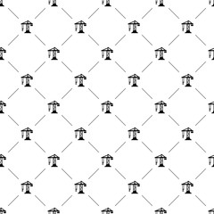 Vector seamless pattern, construction crane