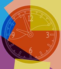 Pendule multicolore