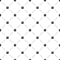 Vector seamless pattern, gift