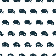 Vector seamless pattern, talk