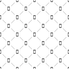 Vector seamless pattern, smart phone