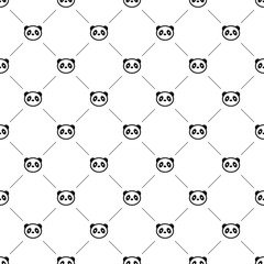 Vector seamless pattern, panda