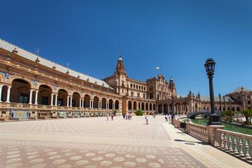 Plaza de Espana in Seville (Spanish Square - Piazza di Spagna)