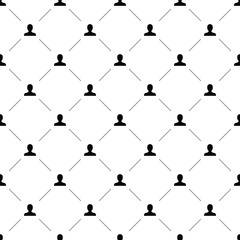 Vector seamless pattern, profile