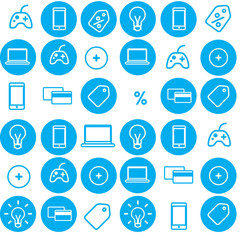 seamless pattern vector icons