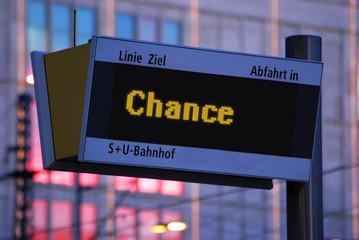 Anzeigetafel 1 - Chance
