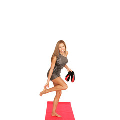 Schauspielerin auf dem roten Teppich