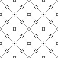 Vector seamless pattern, watch
