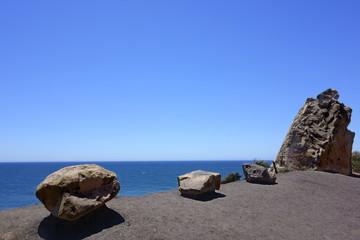 Boulders and Cliff at Point Mugu Ocean Coast, CA