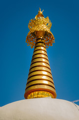 Golden ornamentation at O Sel Lin Monastery