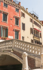 Venedig, historische Altstadt, Altstadthäuser, Kanal, Italien