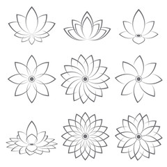 lotus symbol icon design. vector illustration