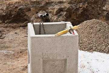 Sinkkasten - Schacht aus Beton für Entwässerung von Oberflächen