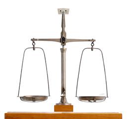Vintage metal pendulum scale
