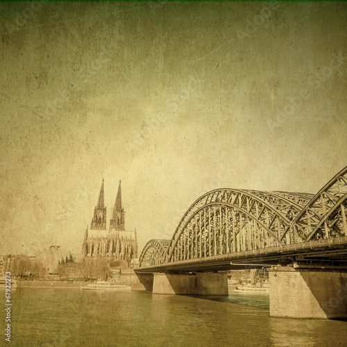 Leinwanddruck Bild view of Gothic Cathedral in Cologne, Germany