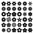 Set of Flower icons. - 67922400
