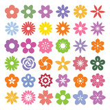 Set of Flower icons. - 67922420