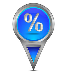 Pin Pointer mit Prozent Symbol