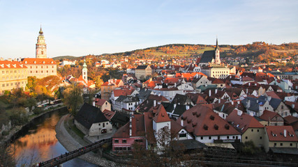 Beautiful view of Cesky Krumlov town