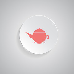 teapot icon. coffee pot symbol