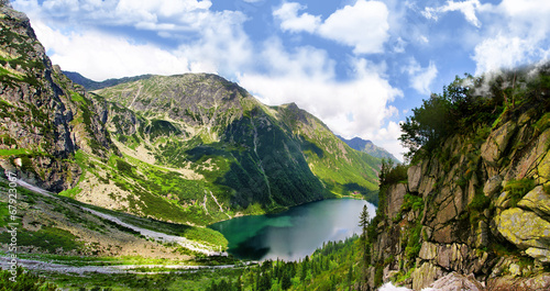 Panel Szklany Tatra mountains and Eye of the Sea in Poland