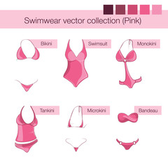 Pink swimwear collection