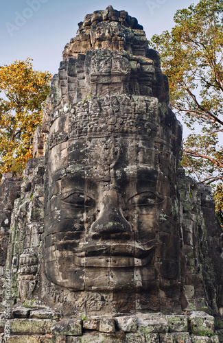 canvas print picture The Victory gate, Angkor Thom, Cambodia
