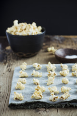 Popcorn with peanut butter