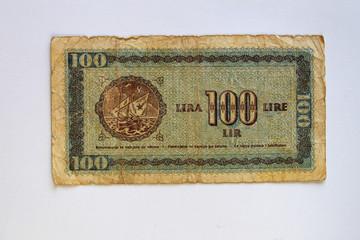 Alte Banknote,100 Lire,Kroatien