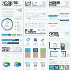 Finance, economy and business vector infographic elements