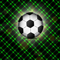 Soccer ball icon, flat design.