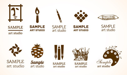 Signs for art studio