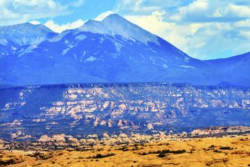 La Salle Mountains Rock Canyon Arches National Park Moab Utah