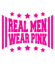 Text Logo Design Real Men Wear Pink