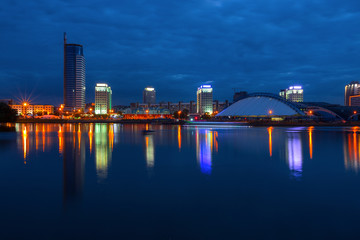 Minsk (the capital of Belarus) at evening