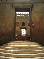 the gate of Ibn Toulon mosque in Cairo Egypt