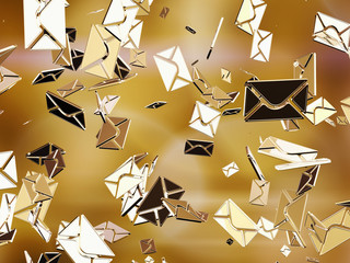 Golden sms or e-mail.