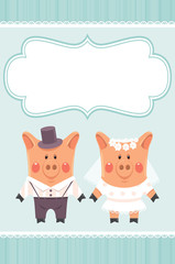 piggies newlyweds